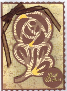 LAC Brown & Yellow Paper Lace Cricut 12-12