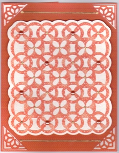 LAC Orange Paper Lace Cricut 12-12