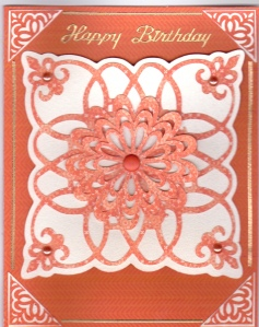 LAC Orange Paper Lace Cricut HB 12-12