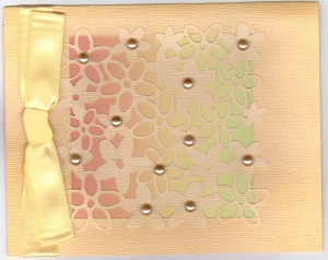 LAC Yellow Paper Lace Cricut Blank 12-12
