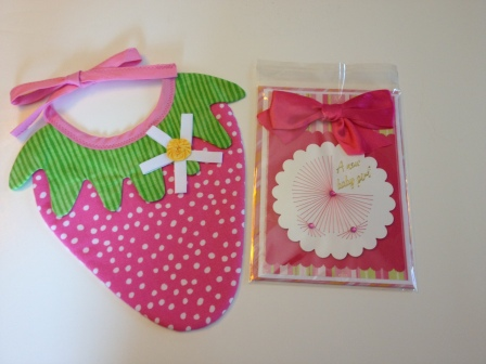 LAC Bib Strawberry & Card