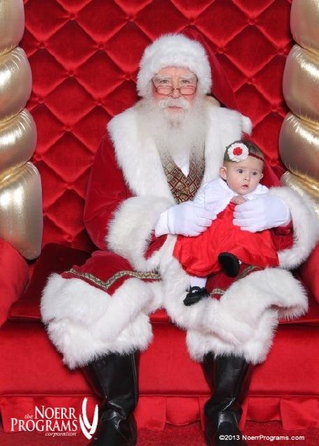 Demi and Santa