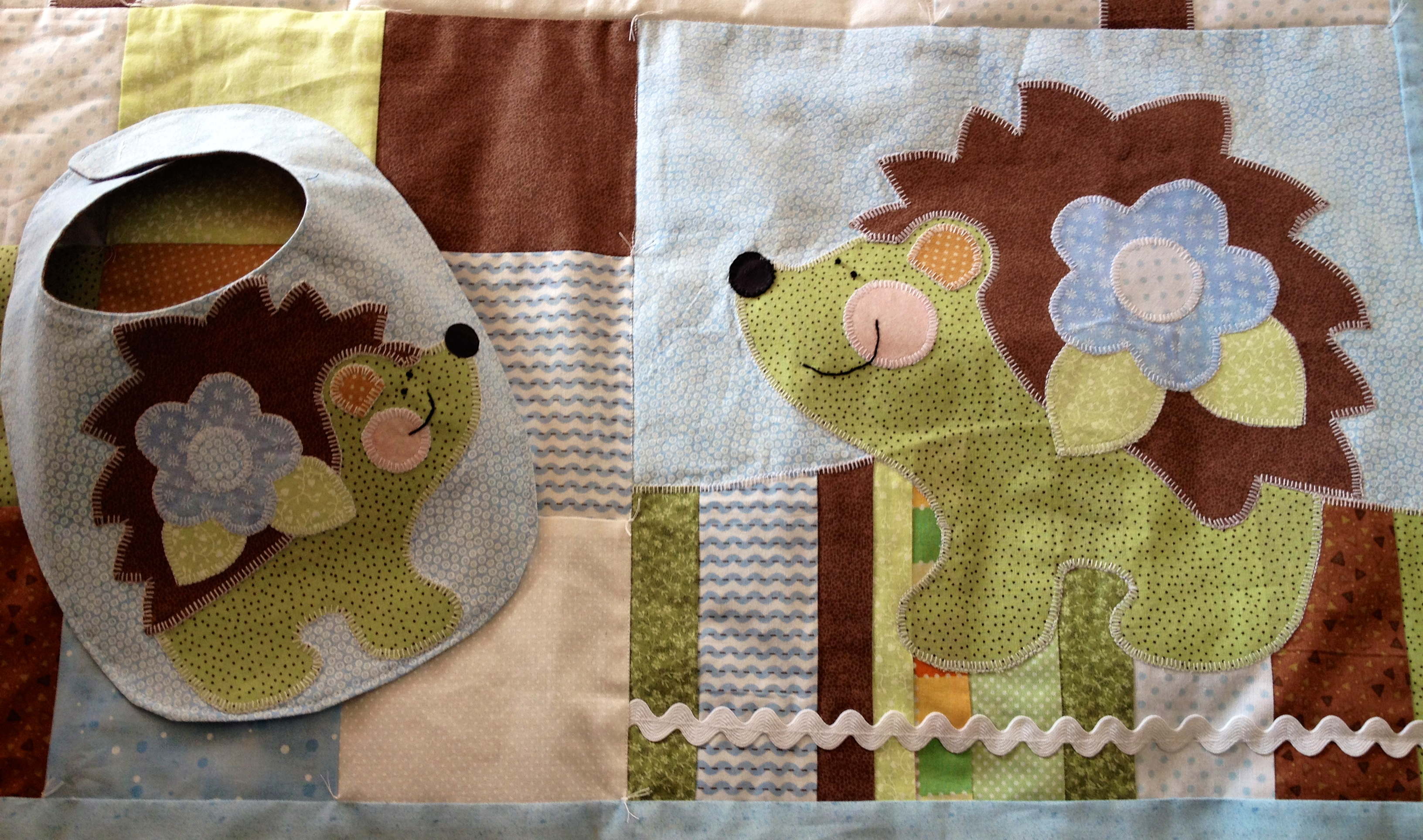 Baby Boy Hedgehog Quilt A Bit Of Me Lac