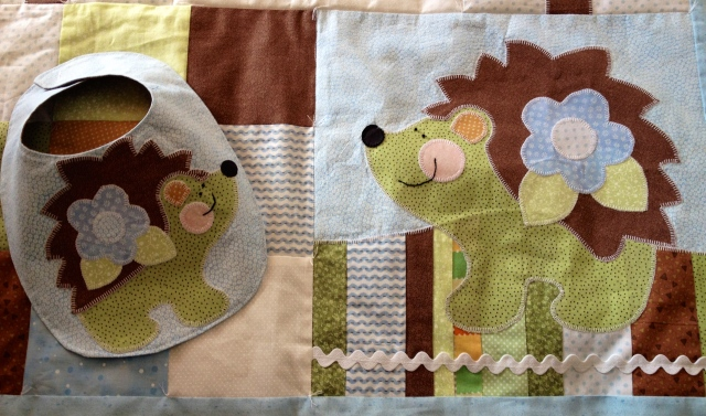 Hedgehog Quilt & Bib