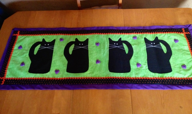 LAC Black Cat Table Runner 8-2014