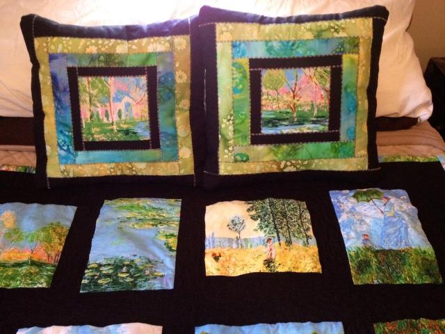 Monet Quilt pillows 1