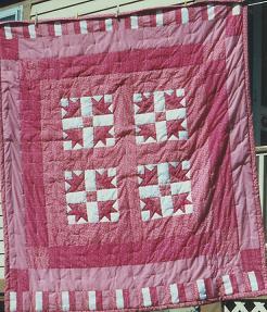 042 Pieced Tuilip Quilt 1990 Olga