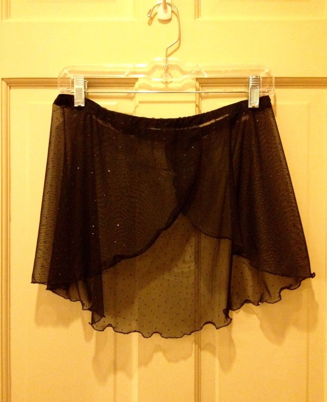 LAC Ballet skirt black sparkle